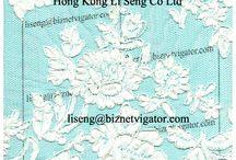 Embroidered Net Lace Pattern Manufacturer Wholesale and Supplier / New Lace Trims Pattern Catalog  For Fashion Designer, Garment Factory Wholesale and Supplier    More Information http://laceandtrims.weebly.com  Hong Kong Li Seng Co Ltd E-Mail:liseng@biznetvigator.com