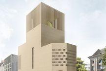 Architekturbilder des House of One in Berlin / Bilder der Gewinner des Architekturwettbewerbs - Kuehn Malvezzi