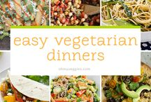 Simple Dinners: Vegetarian / family friendly meatless and vegetarian recipes