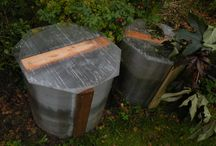 Crafts in the country / Universal container for composting. Base of construction - cellular polycarbonate waste.