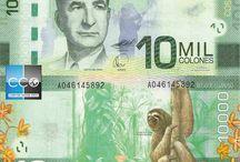 Billets Costa Rica / La monnaie officielle du Costa Rica est le colón costaricien, colones au pluriel ; son nom vient de Christophe Colomb qui découvrit le pays lors de son dernier voyage. Les billets Costa Rica en circulation sont : de 1000, 2000, 5000, 10 000, 20 000, 50 000 colones.