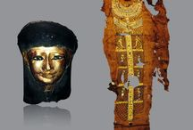 Egyptian Antiquities for sale / A selection of Ancient Egyptian antiquities including amulets; faience, shabtis, pottery; bronze; cartonnage and burial artifacts.
