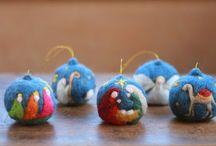Kerstballen gevilt
