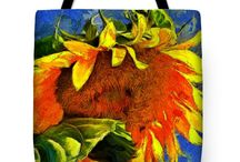 """Art totes /  tote bags are made from soft, durable, poly poplin fabric and include a 1"""" thick black shoulder strap for easy carrying. Tote bags are available in three different sizes from 13"""" x 13"""" up to 18"""" x 18"""". Each tote bag is printed on both sides using the same image and can be machine-washed with cold water."""