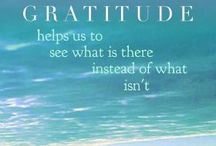 Gratitude / Everything about being grateful.