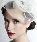 Feathers & Cage Veils / Fascinators, cage veils, tip hats, feather flowers...