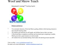 Stuff to Buy / Try the unique services of Woof and Meow Teach.