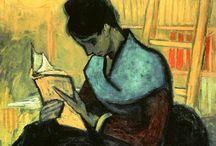 Lectores en la pintura