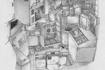 Sci-Fi interiors / futuristic interiors