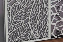 Organic patterns for laser cut screens