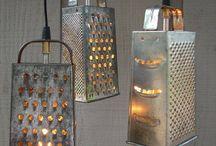 lamparas con rayadoores cocina