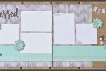 Scrapbooking layouts