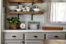 konyha szürke-barna