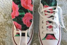 painted shoes / handbeschilderde schoenen