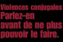 Slogans contre la violence envers les femmes / Violence conjugale. Violence envers les femmes. 25 novembre.