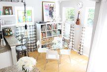 { Studio VML Home Tour } / Welcome to our humble abode! We hope you can take away some inspiration for your home sweet home.   Don't forget to wipe your feet ;)   www.vintagemarqueelights.com