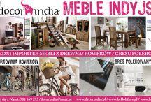 Decorindia / meble, gres, rowery INDIE