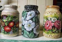 Potes de Vidro Decorados-Achados do Pinterest