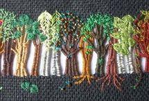 Broderi træer