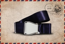 Blue Jodhpur - Fly-Belts aicraft seat belts redesigned as fashion accessories / Designed by and for international travelers, Fly-Belts are adapted airplane seat belts recast to fit all types of pants and jeans. Express & share your frequent flyer experience with this original travelwear.  - Color : Blue Jodhpur - One way pack : 1 buckle + 1 belt - 2 available sizes for buckle thickness and belt's webbing width - Original (48mm) and Slim (38mm) - One length fits all - Airline resistant webbing. Aluminium buckle