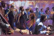Artists - Modern / Paintings I like and demonstrations.  / by Fran Jones