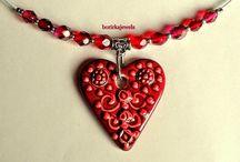 borirkajewel - Valentin day gift for Her / Ajándék ékszerek - akár Valentin napra- szíves medálú láncok és fülbevalók