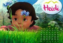 Hintergrundbilder / Hier findest du viele Hintergrundbilder für Computer, Tablet oder Handy von Maja, Wickie und Heidi!