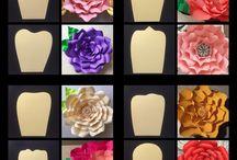 Гигантские цветы (на стену)