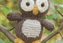 Knit owls and toys