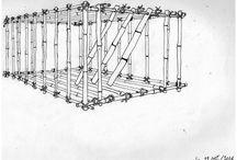 Machines et outils de Tahala, la cité des aigles / Dessins réalisés pendant l'écriture de textes sur les objets, outils et machines employés à Tahala, la cité des aigles.