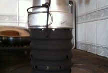 camping stuff / My Swiss Volacano stove.