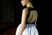 Lina Liri's Elegant High Fashion Black & White Color Dress Fourreau Style With Tulle. / Lina Liri's Elegant High Fashion Black & White Color Dress Fourreau Style With Tulle.