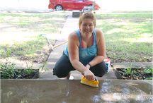 DIY concrete painting & designs