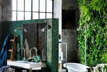Bathroom green nature