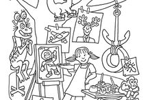 Kids Corner / Coloring pages, art projects / by Cindy Carter