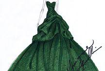 fashion illustration - Monique Lhuillier outfits
