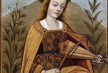 Vièle / Iconographie de vièle médiévale, ovale, en  huit, piriforme