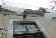 Luifel voordeur / glas op maat