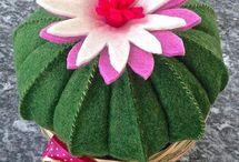 Cactus y plantas fieltro
