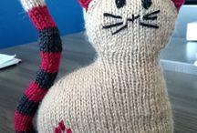 Chat au tricot