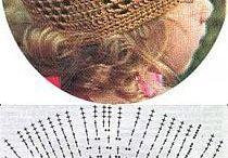 Motivi per cappelli all'uncinetto