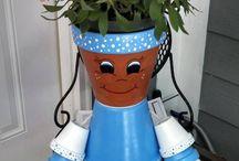 flowerpot art