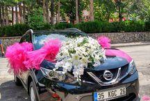 Araba Süsleme / Isparta çiçekçi araba Süsleme