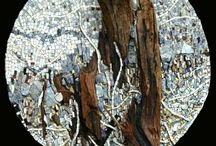 Mosaics on wood or stone