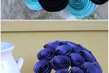 kwiaty z papieru skladane