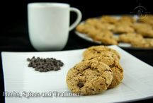 Whole wheat cookies with flax seeds / Food and recipe