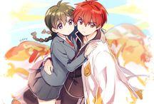 Rokudou Rinne y Mamiya Sakura