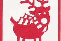 Christmas / handmade cut Christmas cards