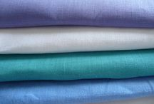 Linen in the color of the sea / 100% linen