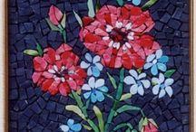 Mosaics - flowers, plants, trees
